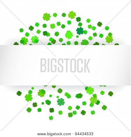Saint Patrick's Day banner with green clovers leaves and place for your text