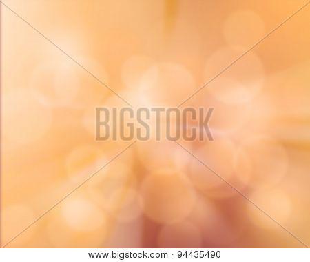 Blur Orange Background With Subtle Burst