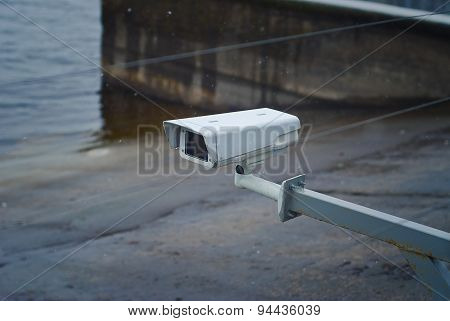 Surveillance Camera On The Dock