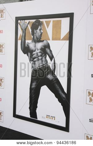 LOS ANGELES - JUN 25:  Joe Manganiello Magic Mike XXL Poster at the
