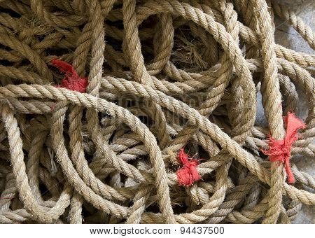old twisted rope