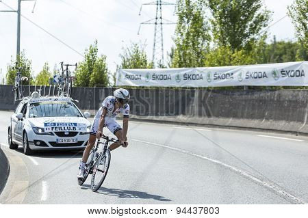 The Cyclist Brice Feillu - Tour De France 2014
