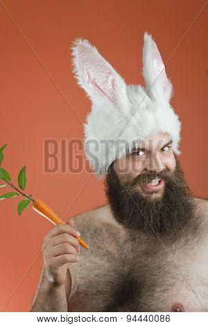 Grinning Bunny Man