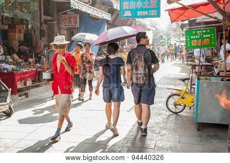 Muslim Street in Xian, China