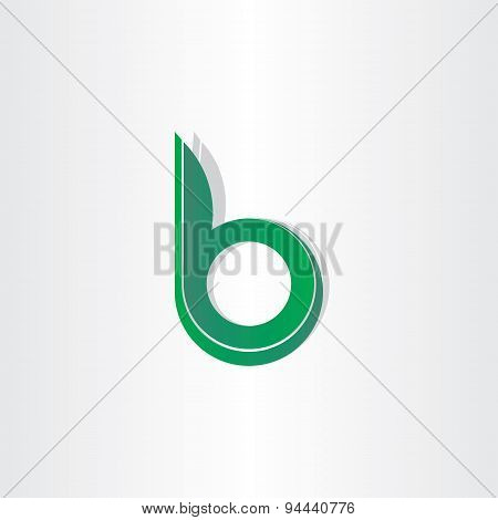 Green Letter B Stylized Symbol