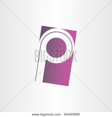 Letter P Purple Sign Design