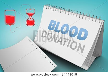 Blood donation against blue vignette background