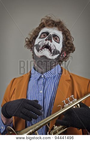 Musician Painted Face
