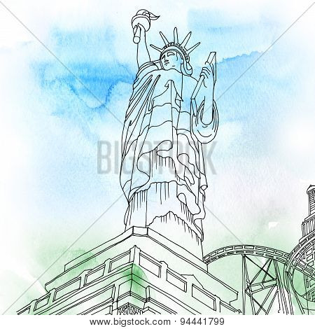 Statue Of Liberty. New York City, United States