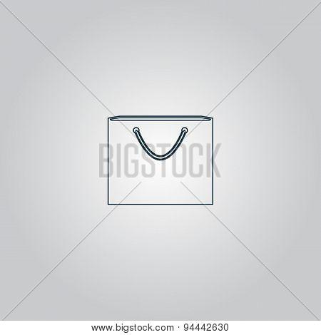 shopping bag, vector illustration