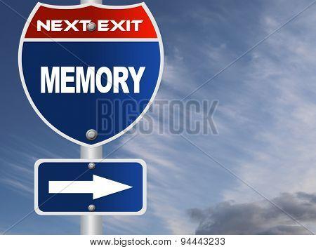 Memory road sign