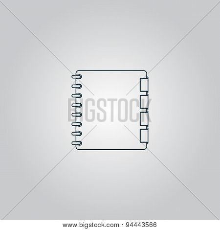organizer icon , vector illustration