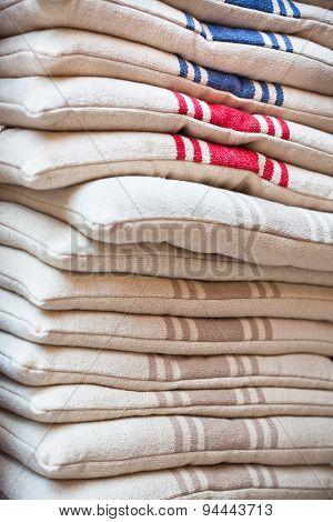 Linen Chair Pillows Pile