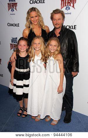 LOS ANGELES - JUN 24:  Brittany Daniel, David Spade, Chloe Guidry, Allison Gobuzzi, Lauren Gobuzzi at the