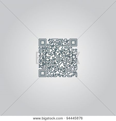 Qr code icon, vector illustration