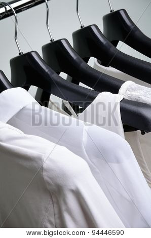 White Womens Clothing Hanging Vertical