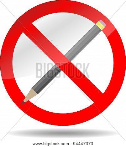 Ban Write Pencil
