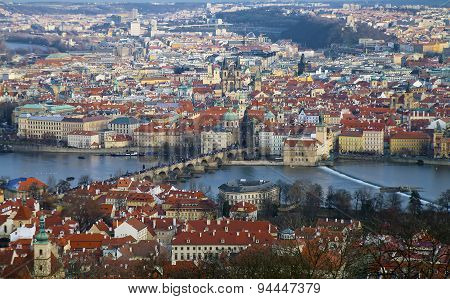Above View Of Old Prague
