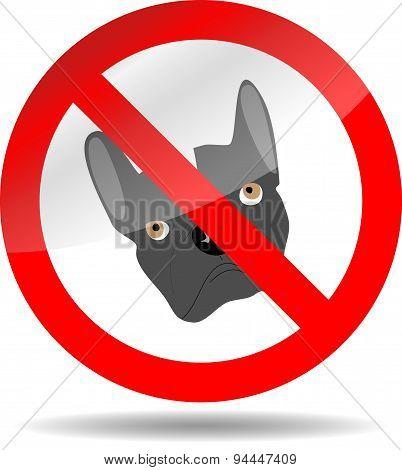 Sign Ban Dog