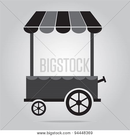 Market Cart Icon Vector Illustration