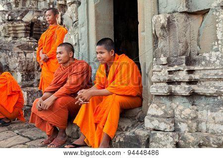 Monks In Angkor Wat, Cambodia