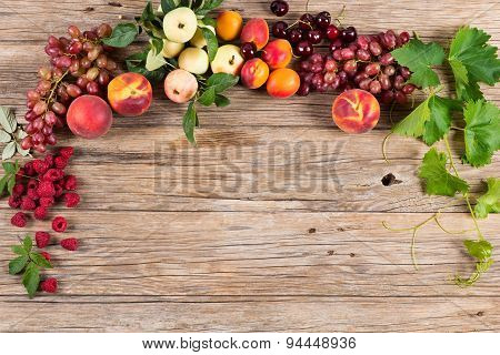 Colorful Fruits Frame