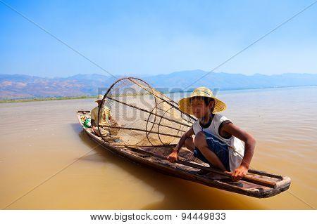 Intha Fisherman, Inle Lake, Myanmar