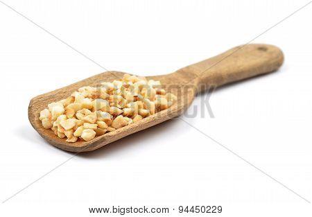 Minced Hazelnuts On Shovel