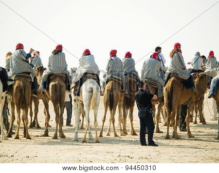 Camel Riding In Tunisia