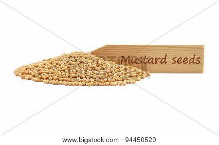 Mustard Seeds At Plate