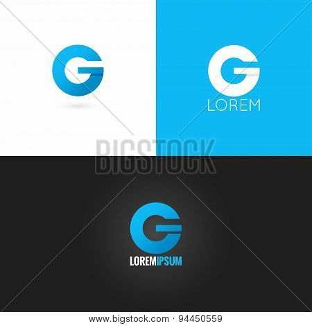 letter G logo design icon set background