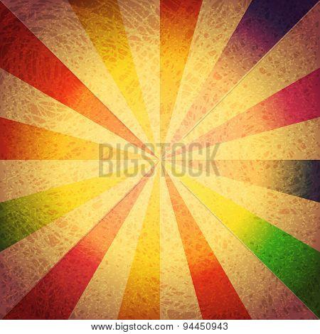 Vintage Striped Grunge Vector Background