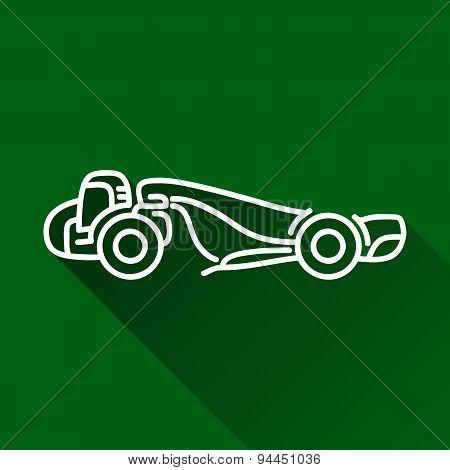 Motor Scraper Flat Line Icon