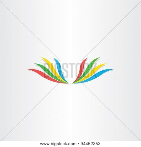 Abstract Colorful Wings Icon