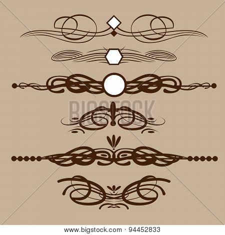 Vintage elements, caligraphics elements, page decoration.
