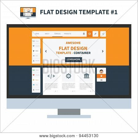 Flat Design Ui Kit Template