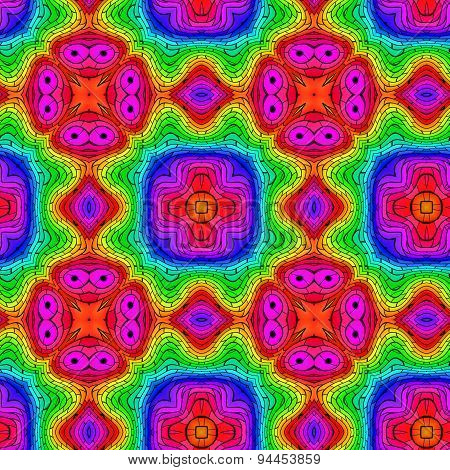 Color Pattern Seamless Generated Texture