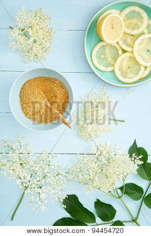 Ingredients For Making Elderflower Syrup