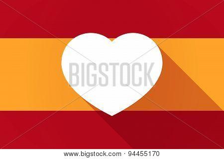 Spain  Long Shadow Flag With A Heart