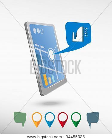 Smoothing Icon And Perspective Smartphone Vector Realistic