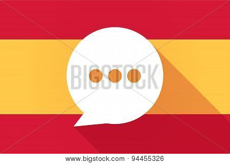 Spain  Long Shadow Flag With A Comic Balloon