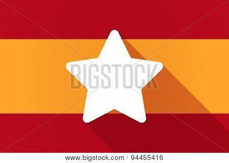 Spain  Long Shadow Flag With A Star