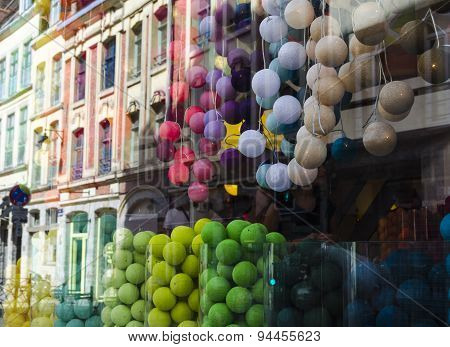 Colorful showcase