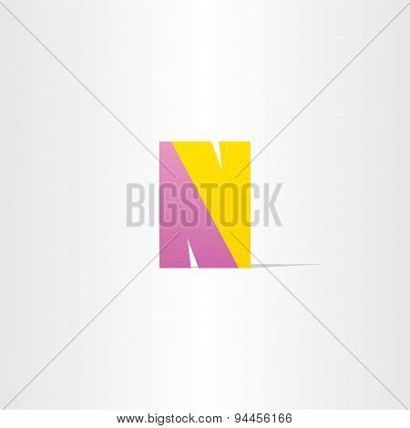 Letter N Logotype Vector Design
