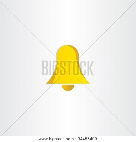 Yellow Ringing Bell Icon