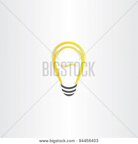 Yellow Vector Bulb Icon Design