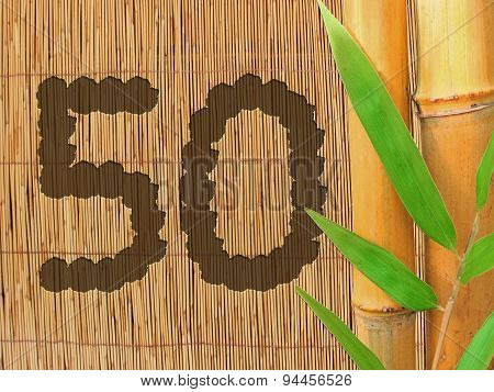 Number 50, Bamboo Background