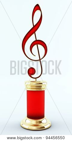 Music Award Treble Clef