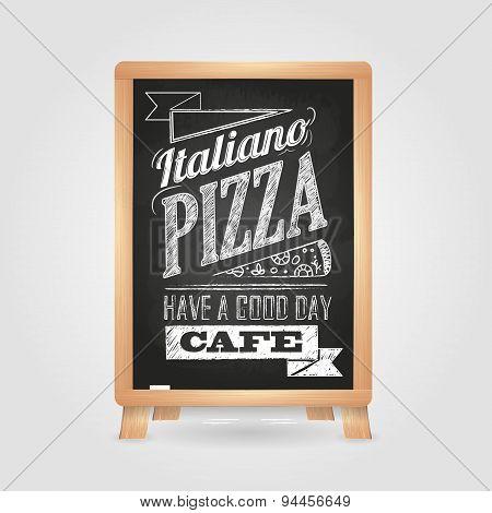 Chalk Drawings. Menu. Pizza. Retro Typography.