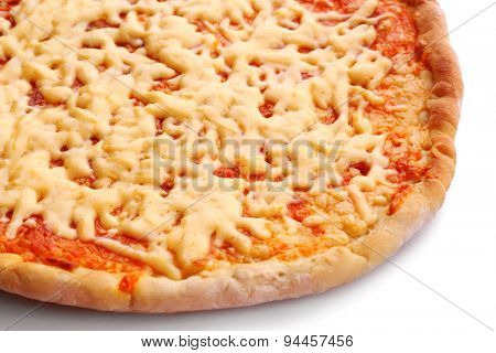 Cheese pizza close up
